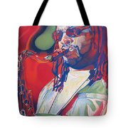 Leroi Moore Colorful Full Band Series Tote Bag by Joshua Morton