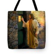Let Him In Tote Bag by Greg Olsen