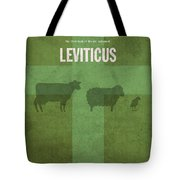 Leviticus Books Of The Bible Series Old Testament Minimal Poster Art Number 3 Tote Bag by Design Turnpike