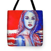 Liberty American Girl Tote Bag by Anna Ruzsan