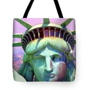 Liberty Head Painterly 20130618 Tote Bag by Wingsdomain Art and Photography