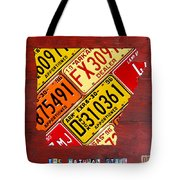 License Plate Map Of Arkansas By Design Turnpike Tote Bag by Design Turnpike