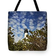 Lighthouse At Bill Baggs Florida State Park Tote Bag by Eyzen Medina