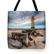 Lighthouse at Talacre  Tote Bag by Adrian Evans