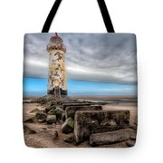 Lighthouse Steps Tote Bag by Adrian Evans