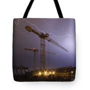 Lightings Above City Tote Bag by Michal Boubin
