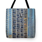 Lights - Camera - Action - Movie Backdrop Chicago Tote Bag by Christine Till
