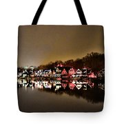 Lights On The Schuylkill River Tote Bag by Bill Cannon