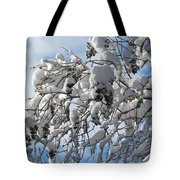 Lilac In Winter Tote Bag by Michele Myers
