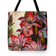 Lilies Tote Bag by Harsh Malik