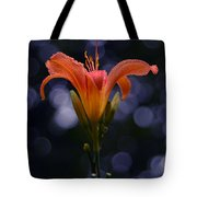 Lily After A Shower Tote Bag by Raymond Salani III