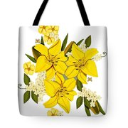 Lily Triplets Tote Bag by Anne Norskog