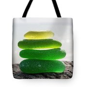 Lime Breeze Tote Bag by Barbara McMahon