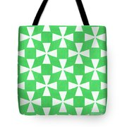 Lime Twirl Tote Bag by Linda Woods