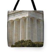 Lincoln Memorial Pillars Tote Bag by Susan Candelario