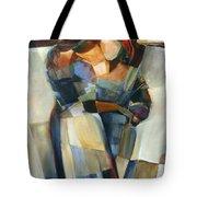Lines Crossed Tote Bag by Jen Norton