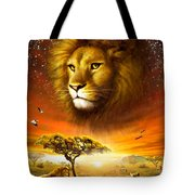 Lion Dawn Tote Bag by Adrian Chesterman