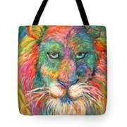 Lion Explosion Tote Bag by Kendall Kessler