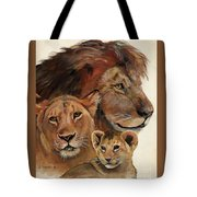 Lion Family Portrait Tote Bag by Suzanne Schaefer