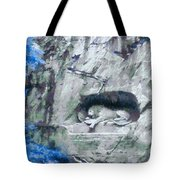 Lion Of Lucerne Tote Bag by Dan Sproul