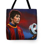 Lionel Messi  Tote Bag by Paul Meijering