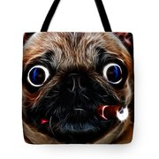 Little Capone - c28169 - Electric Art - With Text Tote Bag by Wingsdomain Art and Photography