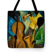 Little Jazz Trio IIi Tote Bag by Larry Martin