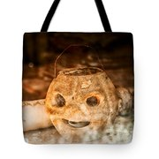 Little Orange Face Tote Bag by Cat Connor
