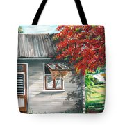 Little West Indian House 1 Tote Bag by Karin  Dawn Kelshall- Best