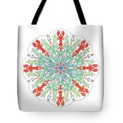 Lobster Mandala Tote Bag by Stephanie Troxell