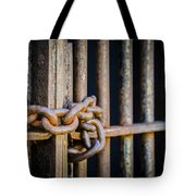 Locked Out Tote Bag by Carolyn Marshall
