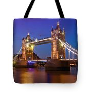 London - Tower Bridge During Blue Hour Tote Bag by Melanie Viola