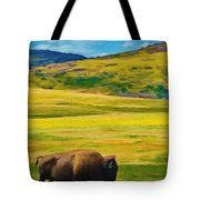 Lone Buffalo Tote Bag by Jeff Kolker