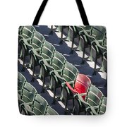 Lone Red Number 21 Fenway Park Tote Bag by Susan Candelario
