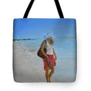 Lonely Beach Walk Tote Bag by Joyce Reid
