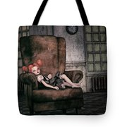 Lonely Gothic Doll Tote Bag by Jutta Maria Pusl