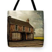 Lonely House On The Shore Of The River Forth. Culross Sketches. Scotland Tote Bag by Jenny Rainbow