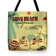 Long Beach 1946 Tote Bag by Nomad Art And  Design