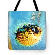 Long-spine Fish Tote Bag by Daniel Janda