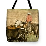 Longhorn Round Up Tote Bag by Steven Bateson