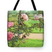 Looking Through The Rose Vine Tote Bag by Stephanie Hollingsworth