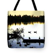 Lost Lagoon At Sundown Tote Bag by Will Borden