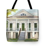 Louisiana Historic District Home Tote Bag by Elaine Hodges