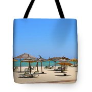 Lounging At The Beach Tote Bag by Corinne Rhode