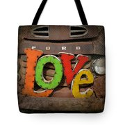 Love And A Ford Truck Tote Bag by Carla Parris
