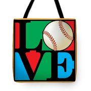 Love Baseball Tote Bag by Gary Grayson