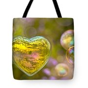 Love Bubble Tote Bag by Delphimages Photo Creations