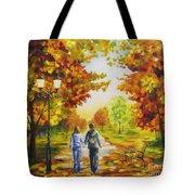 Love In Autumn Tote Bag by Veikko Suikkanen