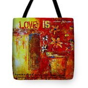 Love Is Abstract Tote Bag by Patricia Awapara