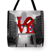 Love Isn't Always Black And White Tote Bag by Paul Ward
